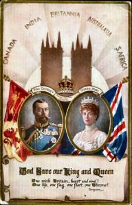 Commemorative postcard for the coronation of King George V, June 22nd 1911