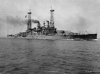 USS South Carolina, circa 1914 - photograph: US Naval Historical Centre