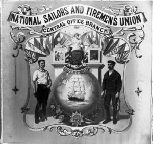 National Seamen and Firemen's Union poster. National Maritime Museum collection